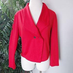 Anne Klein Red Waist Coat Blazer Sz XL